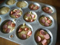 Corndog Muffins...may just have to give these a try to take for lunch!