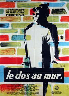 French grande for LE DOS AU MUR (Edouard Molinaro, France,...