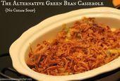 Alternatives Rezept für Auflauf mit grünen Bohnen  es wird keine Champignoncr Casserole Dishes, Casserole Recipes, Corn Casserole, Quiche Recipes, Mushroom Cream Soup, Mushroom Recipe, Cambells Recipes, Greenbean Casserole Recipe, Soup Appetizers
