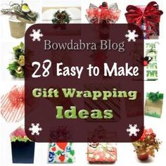 28 Creative DIY Christmas Gift Wrapping Ideas by patrice