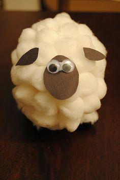 Pom-Pom Cotton Ball Sheep