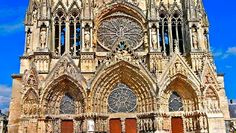 Cathedral of Notre-Dame, Former Abbey of Saint-Rémi and Palace of Tau, Reims, France.