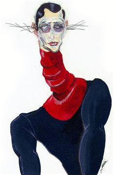 Files: Alexander McQueen F/W 2013 Menswear by Achraf Amiri Fashion Illustration Collage, Man Illustration, Fashion Artwork, Fashion Books, Fashion Design Portfolio, Sketch Inspiration, Gay Art, Fashion Sketches, Find Art