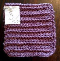 Double Crochet through Back Loop only
