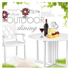 """Outdoor Dining"" by totwoo ❤ liked on Polyvore featuring interior, interiors, interior design, home, home decor, interior decorating, Improvements, Match and Libbey"
