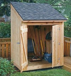 Download a free 8x12 storage shed plan, 8x10 garden shed plan, lean-to tool shed plan, firewood shed plan and garbage shed plan with step-by-step instructions, easy to follow blueprints & complete...