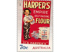 Nostalgic Advertisments Stamp from Australia Post. Gifts For An Artist, Empire, Stamps, Kitchens, Advertising, Stationery, Australia, Creative, Vintage