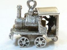 Rare Vintage 925 Sterling Silver CHARM Pendant STEAM TRAIN OPENS 4.7g - 20 gbp