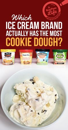 Which Ice Cream Brand Actually Has The Most Cookie Dough? HARD-HITTNG JOURNALISM OVER HERE.