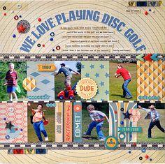 We Love Playing Disc Golf - Scrapbook.com