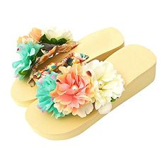 ece973041 Sunny World Women High Heel Platform Flower Slipper Shoes Flip Flops Thong  Beach Sandals for Ladies