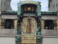 Ankeruhr - Anker Clock, Vienna, Austria