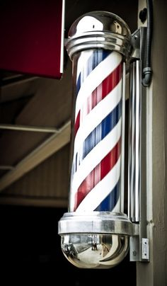 classic barbershop pole red white blue