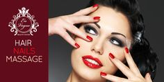 Melt away your worries with a Gelish Manicure, Hair Colouring, a Haircut, a Blow-Dry and a Neck