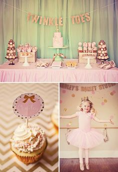 {Gorgeous!} Sparkly Pink & Gold Ballerina Party // Hostess with the Mostess®