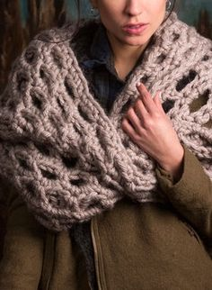 Back to Scotland Cowl -- Crochet Cowl Pattern from @redheartyarns