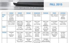 New Fall Schedule