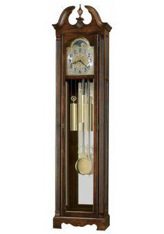 611-170 Warren, Howard Miller Grandfather Clock, Cherry Bordeaux Finish