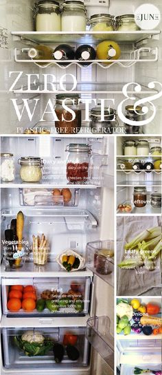 Zero-Waste Food Storage: plastic free, green living  9a ressemble à mon frigo, en plus grand !