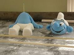 Image result for how to make a fondant smurf cake topper