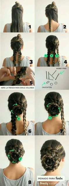 10 Easy Hairstyles To Mix It Up Casual Hairstyles, Party Hairstyles, Medium Hairstyles, Braid Hairstyles, Girl Hairstyles, Wedding Hairstyles, Updo Hairstyle, Flower Hairstyles, Long Haircuts