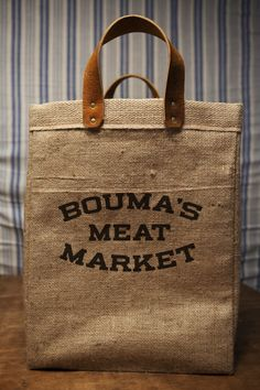 meat market bag.