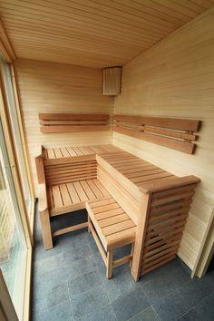 Friggebod Fritidshus undefined Sauna House, Sauna Room, Indoor Sauna, Adams Homes, Sauna Design, Outdoor Buildings, Saunas, Wet Rooms, House In The Woods