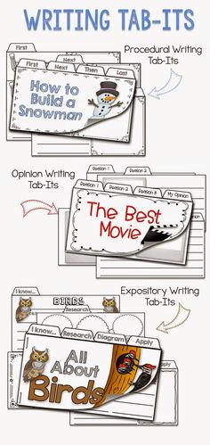 Add some PIZZAZZ to your Work on Writing Station using these CCSS aligned WRITING TAB-ITS.  Your students will be reading, researching, writing, learning, and having F.U.N.!
