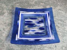Fused Glass Square Platters