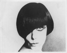 Peggy Moffitt modeling her signature Vidal Sassoon 'five point' haircut, circa 1960s