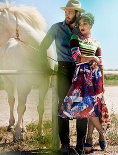 November 2016, Vogue Magazine.  Actors Ruth Negga and Joel Edgerton. Photographed by Mario Testino