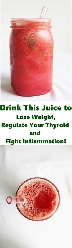 Drink This Juice to Lose Weight, Regulate Your Thyroid and Fight Inflammation! - best news here healthy Diet Tips Drink This Juice to Lose Weight, Regulate Your Thyroid and Fight Inflammation! Diet Drinks, Healthy Drinks, Get Healthy, Healthy Tips, Beverages, Healthy Weight, Healthy Juices, Healthy Recipes, Hypothyroidism Diet