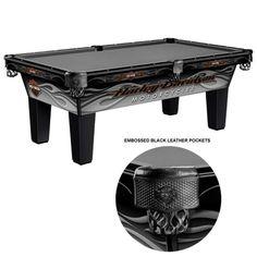 Harley-Davidson® Radical Flames Pool Table HDL-11301