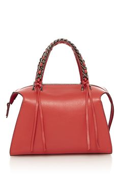 Mini Gabria Small Satchel in Scarlett Sensua Leather by Elena Ghisellini for Preorder on Moda Operandi