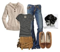 """""""Comfy Cozy 3"""" by aroe9410 ❤ liked on Polyvore featuring Hollister Co., Minnetonka and Proenza Schouler"""