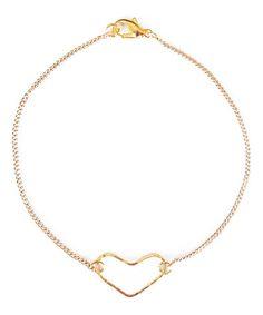 Love this Goldtone Open Heart Bracelet on #zulily! #zulilyfinds
