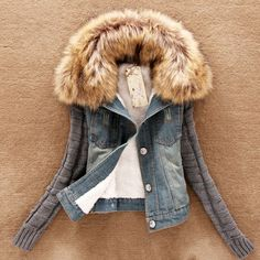 Denim jacket furs...  ...  Limited time discount offer .. Buy Now ...   http://shop.mustified.com/products/denim-jacket-furs-collar-wool-bomber-jacket-for-women?utm_campaign=social_autopilot&utm_source=pin&utm_medium=pin