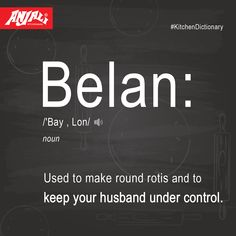 #KitchenDictionary  Did you know that Belan has more than 1 purpose?Hit like if you agree.