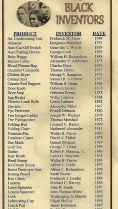 Black History Month--List of black inventors African American Inventors, By Any Means Necessary, Black History Facts, Black History Inventors, Black History Month People, Black History Month Memes, Famous Black Inventors, Important People In History, World History Facts