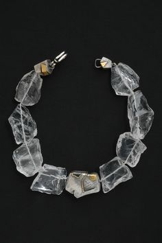 Nancy Michel - cool use of white beading wire to string beads.