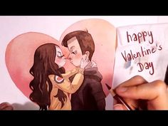 Cute Couple Watercolor Illustration [happy Valentine´s Day] art by Iraville - YouTube