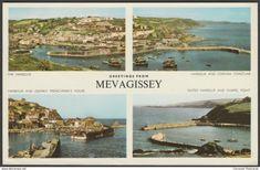 Multiview, Mevagissey, Cornwall, 1960s - Jarrold Postcard