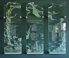 etched glass donor wall | carved glass | donor recognition glass | heatherglass.com