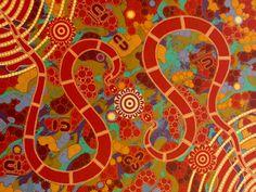 Colours of the Rainbow Serpents by Walangari Karntawarra