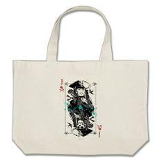 This Jack Sparrow Tote bag is to die for! #JackSparrow #ToteBag #PiratesoftheCaribbean #potc #disneybag #disneyland #disneybound