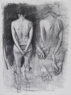 Nicolás Uribe - Study for Graces  charcoal on paper, 2005.
