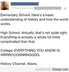 Elementary School: Here's A Basic Understanding.. Painfully Accurate