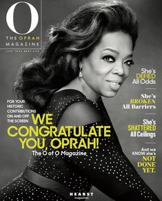 Congrats to Oprah Winfrey for becoming the first Black Woman to win the Cecil B. DeMille Award at the Golden Globes!