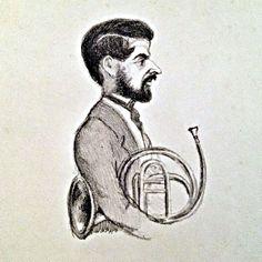 Der Hornist Eduard Pohle, blies bei der Uraufführung von R. Schumanns Concertstück für 4 Hörner das 1. Horn