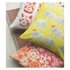 An eye-catching Topsy yellow elephant patterned cushion gives a touch of playful character to your room. Buy now at Habitat UK. Floral Cushions, Bed Cushions, Throw Pillows, Elephant Pattern, Yellow Pattern, Habitats, Home Furnishings, Cotton, Stuff To Buy